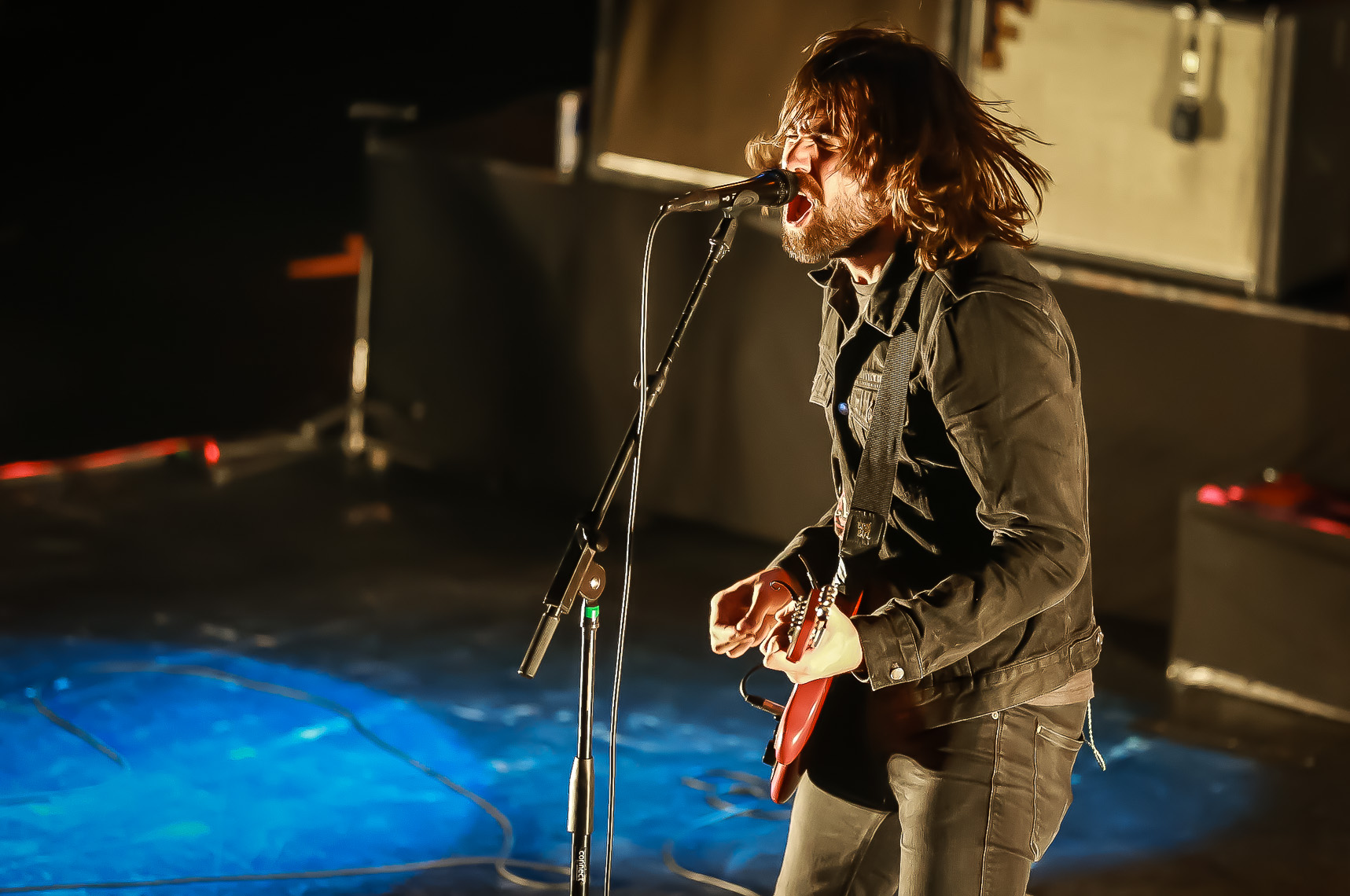 Justin Young of The Vaccines by music photographer Deborah Lowery