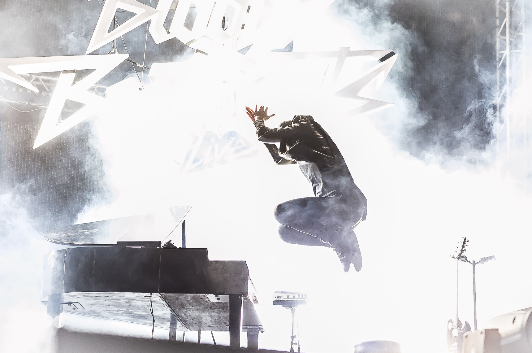 Sir Bob Cornelius of The Bloody Beetroots by music photographer Deborah Lowery