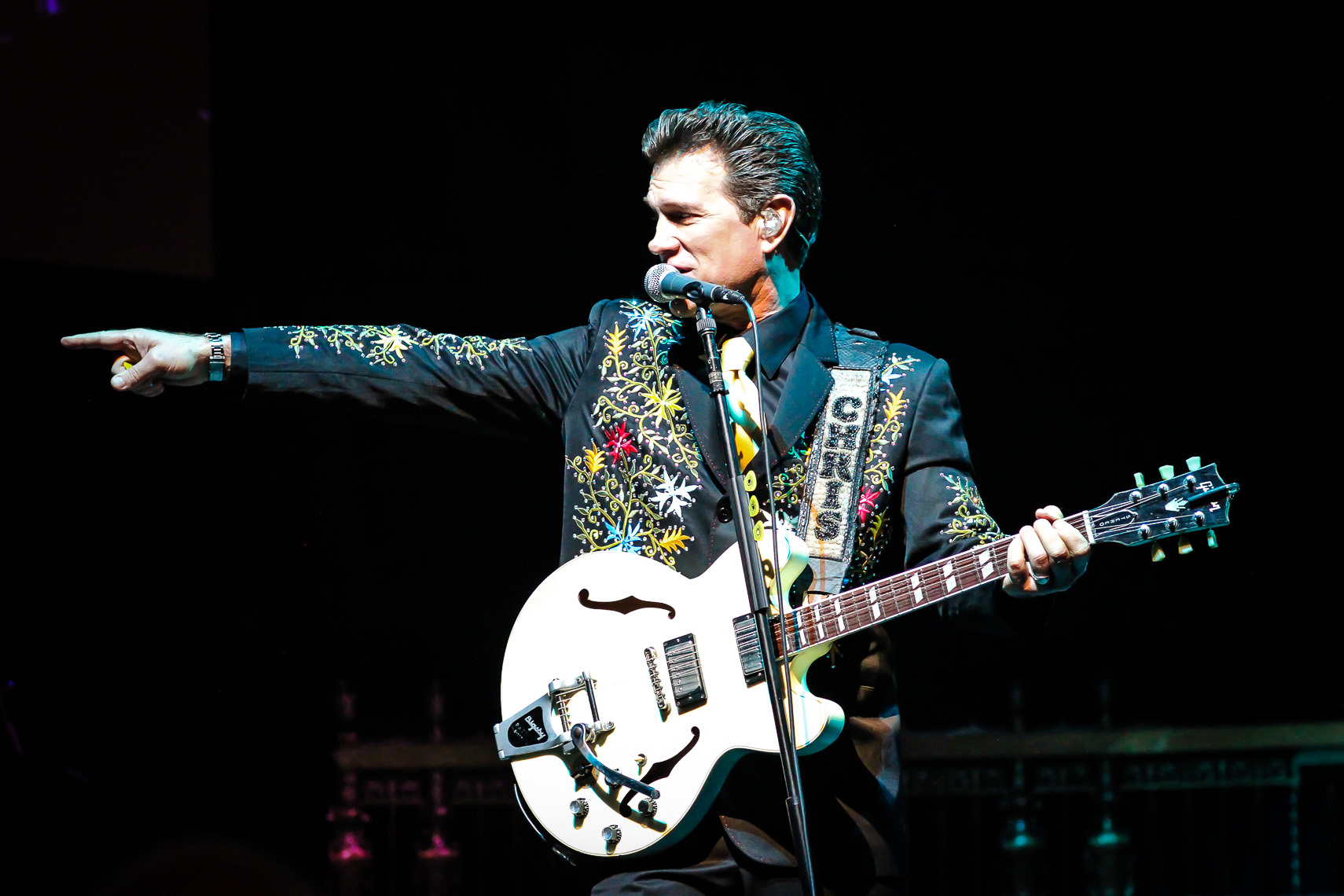 Chris Isaak by music photographer Deborah Lowery